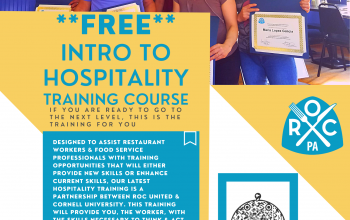 Hospitality training course – FREE opportunity